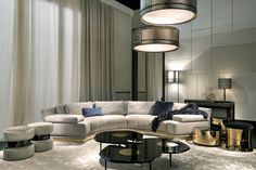 for family room (artu - Fendi Casa) interior collections by Luxury Living Group Contemporary Interior Design, Luxury Interior Design, Luxury Home Decor, Best Interior, Modern House Design, Luxury Homes, Modern Contemporary, Fendi Casa, Living Room Designs