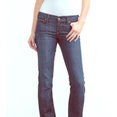Citizens of humanity Dita Petite boot cut jeans Like new! Great condition. A classic bootcut shape made uniquely for petite proportions. The knee breaks higher on the leg to accommodate a petite frame and the inseam is a shorter length. For reference I am 5'1 and it fits me just right with probably 2 inches to spear. Still long enough for me when I wear heels   - Low rise, bootcut - Dark wash - Content: 98%Cotton 2% true to size Citizens of Humanity Jeans Boot Cut