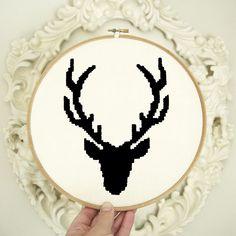 Cross Stitch Deer pattern from http://whatdelilahdid.bigcartel.com