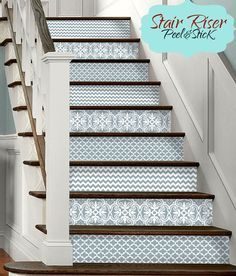 15 strips of Stair Riser Vinyl Decal Removable by SnazzyDecal