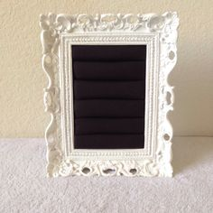 White and Black Chic Ring Frame  by Downtownalyshop on Etsy https://www.etsy.com/listing/231610728/white-and-black-chic-ring-frame