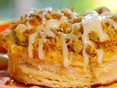 Paula Deen's Orange Coffee Cake   My mom used buttered flavored biscuits instead of the flaky layers~yum! I will use those again!