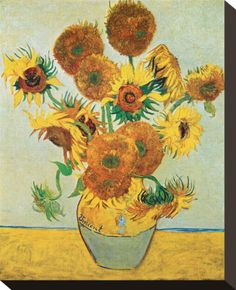 "Vincent van Gogh ""Vase with Fourteen Sunflowers"" / August Arles / Oil on canvas, 93 x 73 cm / National Gallery, London Famous Still Life Paintings, Popular Paintings, Famous Art, Art Van, Claude Monet, Van Gogh Flower Paintings, Sunflower Painting Van Gogh, Vase With Fifteen Sunflowers, Van Gogh Still Life"