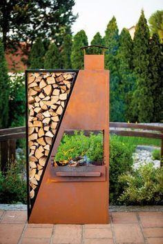 Can this be built for a gas (cjh) Garden Art, Garden Design, Home And Garden, Outdoor Fire, Outdoor Living, Rustic Outdoor, Fire Pit Backyard, Fireplace Design, Outdoor Projects