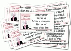 Scandal Starters Bachelorette Party Game