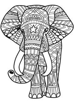 100 Patrones Para Zentangles Y Mandalas Para Descargar Y Elephant Coloring Page, Animal Coloring Pages, Coloring Book Pages, Coloring Sheets, Elefante Hindu, Printable Adult Coloring Pages, Mandala Coloring Pages, Elephant Art, Mandala Drawing