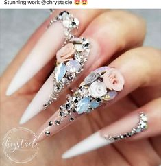 Beautiful nails by Ugly Duckling Master Educator 😍 Ugly Duckling Nails is dedicated to keeping love, support, and positivity flowing in our industry ❤️ 3d Nail Art, Stiletto Nail Art, Nail Nail, Coffin Nails, Best Acrylic Nails, Acrylic Nail Designs, Nail Art Designs, Nails Design, Dope Nails