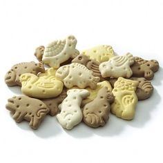 Gustosi biscotti a forma di animaletti ideali come snack fuori pasto o come premio quando il nostro amico è ubbidiente.