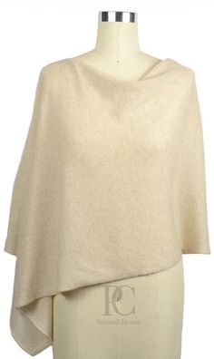 4 in 1 Poncho Dress Topper. 100% Cashmere. 50+ Colors to choose from. One size. Color - DUNE