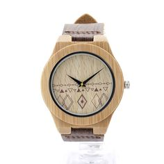 This classic wooden watch is adorned with a gorgeous geometric pattern inspired by Navajo designs. It's waterproof 44mm Dial makes this watch perfect for any adventure life throws your way! This bambo