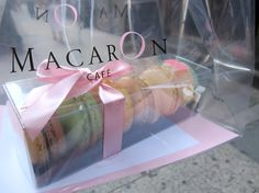packaging at Macaron cafe