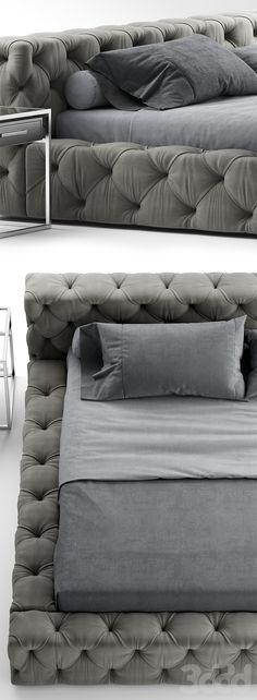 3d модели: Кровати - Кровать rh soho bed