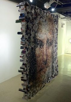 This large sculpture made from rolled up magazines is just one of many by artist Yunwoo Choi.