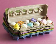 Hueveras para mini cupcakes