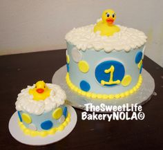 Bath time themed  cakes by The Sweet Life Bakery New Orleans Info@nolasweetlife.com 504-371-5153 www.nolasweetlife.com #nolasweetlife