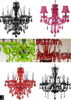 ~ Stylish Plexiglas Chandiliers by Incidence for the budget-conscious. I love them.