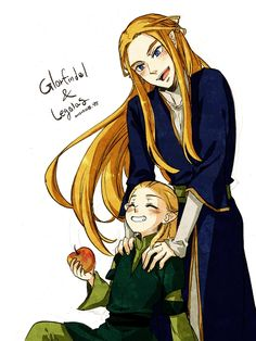 """Glorfindel and little Legolas from """"Lord of the Rings"""" - Art by nyangsam on Pixiv, found via Zerochan <<<<<< I am making inhuman pterodactyl noises right now Glorfindel, Legolas And Thranduil, Jrr Tolkien, The Elf, Middle Earth, Lord Of The Rings, Lotr, The Hobbit, Fan Art"""