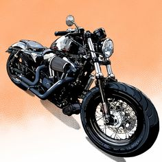 Best Motorbike, Motorcycle Art, Bike Art, Honda Bobber, Hypebeast Wallpaper, Kustom, Cars And Motorcycles, Harley Davidson, Digital Art