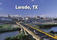 Laredo Texas...seen here are the bridges over the Rio Grande connecting Texas and Mexico.