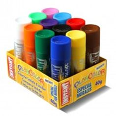 Playcolor jumbo solid paint sticks    Set of 12 chunky 40g sticks - Ideal for outdoor and group art Playcolor solid paint crayons are an easy to use, clean way of painting. WIth instant application, there is no need for water or brushes and the silky finish achieves excellent coverage results. Can be used on paper, cardboard, wood etc. Practical clean and washable £16.99 exc. vat