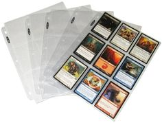 (25) Trading Card 3-Ring Binder Pages - Holds 9 Cards - Clear - BCW Brand