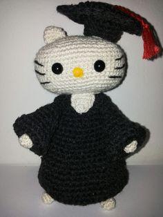 Hello Kitty laurea, amigurumi