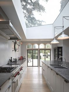 5 Large Kitchen Style Tips if Small is not the Choice More ideas below: Rustic Large Kitchen Layout Design Farmhouse Large Big Kitchen, Kitchen Extension, Kitchen Style, Kitchen Ceiling, Interior Design, House Interior, Home, House, New Homes