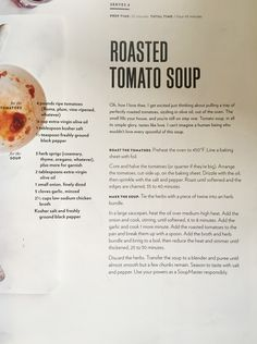 Roasted Tomato Soup - Chrissy Teigen