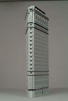 Lego model of the Flatiron Building. I love Legos!