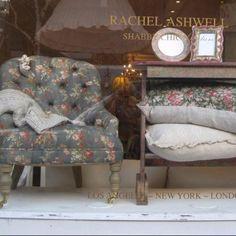 Mabel chair in London shop window.