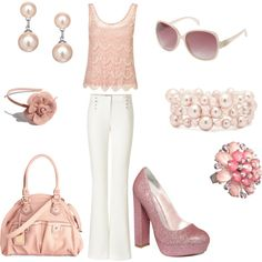 Pink Lace, created by graciaweston on Polyvore