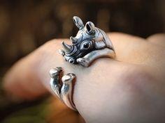 Ringe - Nashorn ♥ Verstellbarer Ring - ein Designerstück von ISTANBLUE bei DaWanda