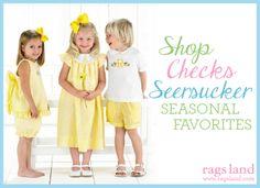 Our Rags Land Seersucker Checks Collection! Shop NOW at www.ragsland.com & follow Ragsland on Instagram!