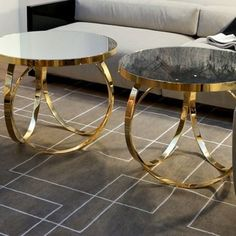 Ottoline - Gold Coffee Table - Ottoline Contemporary Italian table shown in glass top with gold metal base. Finishes: bronze metal, chrome m. Italian Furniture, Metal Furniture, Unique Furniture, Luxury Furniture, Home Furniture, Furniture Design, Custom Furniture, Furniture Dolly, Furniture Movers