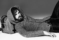 Striking fall winter 2013 collection imagery for Gentleman and Bohemian by Victor Cool featuring model Fabian Nordstrom posing in front of photographer Joseph Cardo. Hipsters, Just Style, Men's Style, Dapper Gentleman, Knit Tie, Effortless Chic, Cool Sweaters, Boho Gypsy, Bearded Men