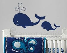 Fish Wall Decal Under the Sea World Wall Decor by stampmagick