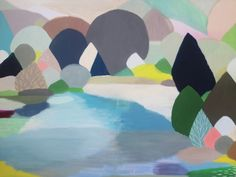 Belynda Henry's upcoming Sydney art exhibition - The Interiors Addict Abstract Landscape, Landscape Paintings, Watercolor Paintings, Abstract Art, Landscapes, Night Shadow, Tapestry Kits, Art Archive, Abstract