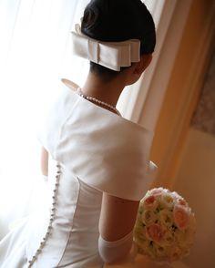 正統派花嫁さんは、みーんな着けてる*クラシカルドレスに合わせたいお上品な〔リボンボンネ〕ヘア特集♡   marry[マリー]