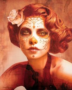 dia de los muertos costume ideas | Pin -up Dia De Los Muertos - Halloween costume idea | Halloween Decor