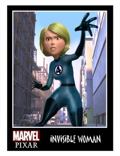 The Invisible Woman, Pixar Style by Minion Factory.