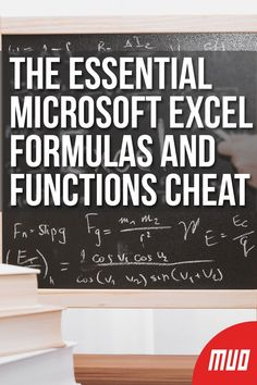 The Essential Microsoft Excel Formulas and Functions Cheat Sheet --- If you're not using Microsoft Excel formulas and functions, you're doing it all wrong. If you learn some, they can dramatically increase the app's functionality and speed up your workflow. #CheatSheet #Microsoft #Excel #Office