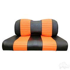 Seat Back & Bottom Covers, Black/Orange, Yamaha Drive