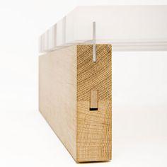 Design : Reinier de Jong /// Languette alu pour assemblage bois + perspex