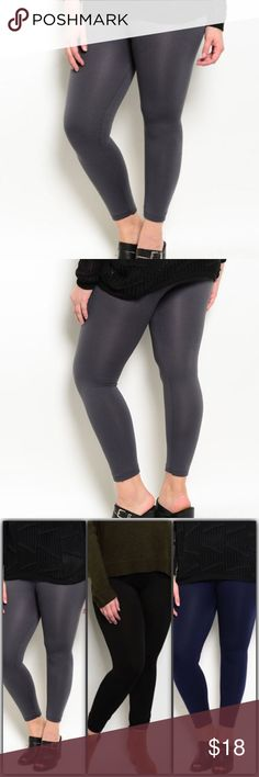 High waisted Fleece Leggings Gray Plus Size High waisted Fleece Leggings Plus Size,... 92% Nylon 8% Spandex. Other colors available as shown in the last picture. Pants Leggings