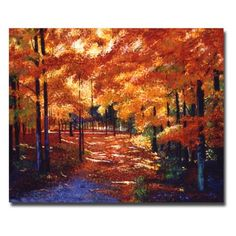 Trademark Art Magical Forest Canvas Wall Art by David Lloyd Glover, Size: 26 x Multicolor Forest Painting, Autumn Painting, Autumn Art, Autumn Trees, Canvas Wall Art, Canvas Prints, Canvas Canvas, Mini Canvas, Canvas Size