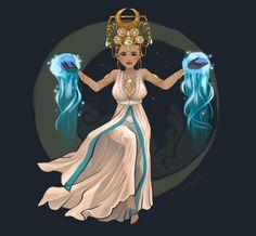 Libulan - the goddess of the moon. Libulan has the ability to manipulate the power of the moon. Filipino Art, Filipino Culture, Filipino Tattoos, Mythological Creatures, Mythical Creatures, Fantasy Creatures, Philippine Mythology, Baybayin, World Mythology