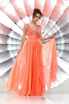 A stunning evening gown by Sparkle