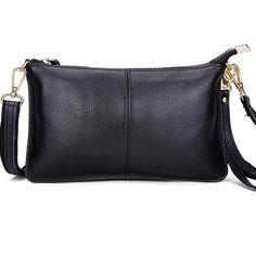 Evening Party Genuine Leather Slit Pocket Clutch Bag