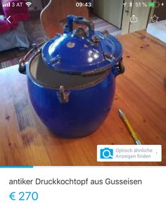 Alter Druckkochtopf Kettle, Kitchen Appliances, Cast Iron, Pour Over Kettle, Diy Kitchen Appliances, Teapot, Home Appliances, Appliances, Boiler