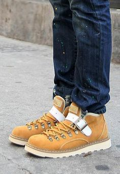 Street style fashion rivet boots Suede Men Shoes